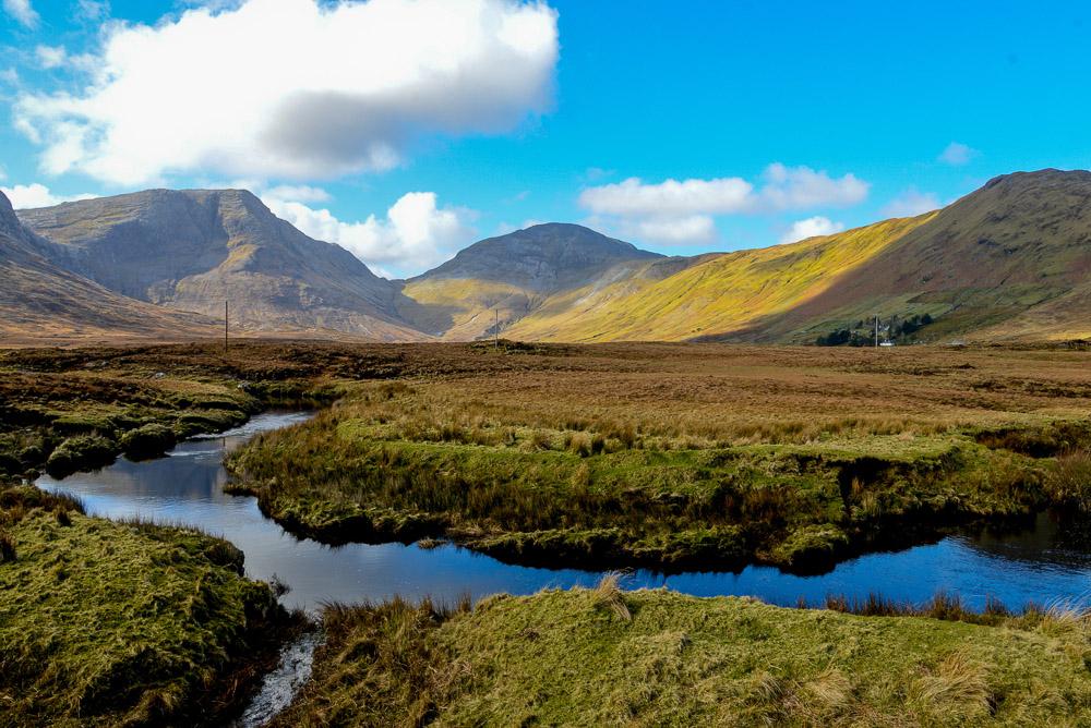 The Twelve Pins Mountains, Connemara, County Galway, Ireland