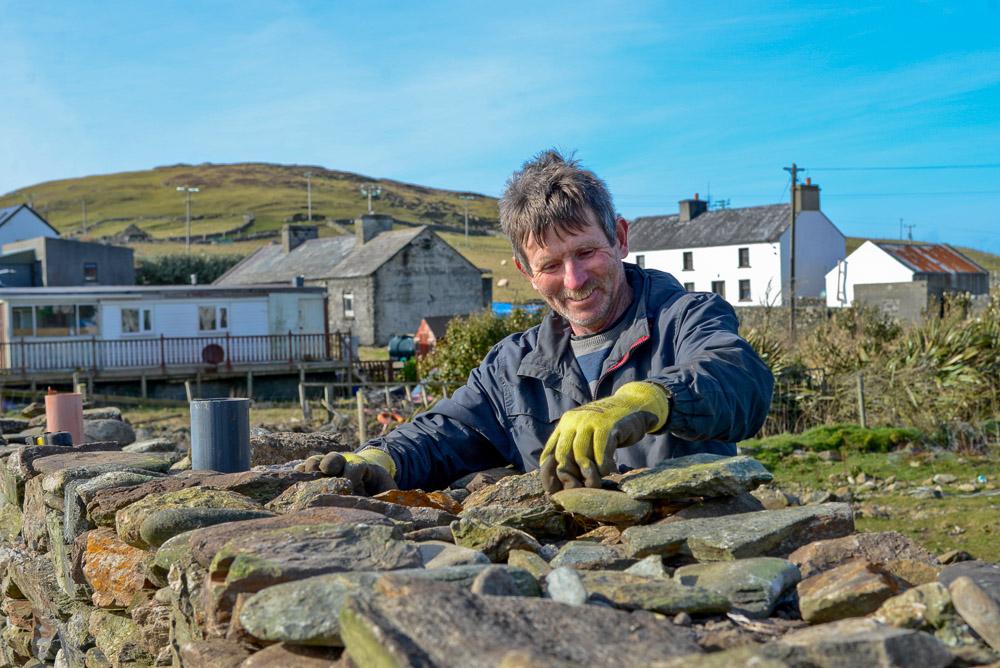 Mairtin Lavelle (Stone Mason), Inishbofin, Co Galway, Ireland.