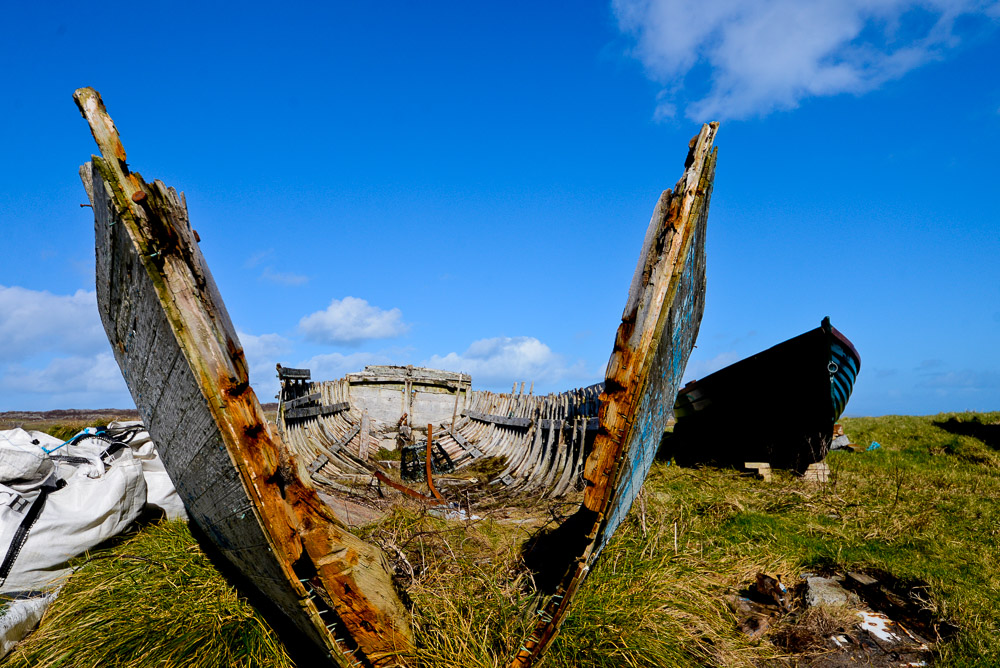 Wreck, Inishbofin, Co Galway, Ireland.