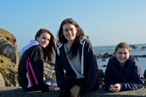 Nollaig, Carina and Briana O'Halloran from West Quarter. Inishbofin, Co Galway, Ireland.