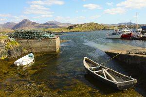 A quiet fishing harbour in Co Galway, Ireland. &copy John Ironside