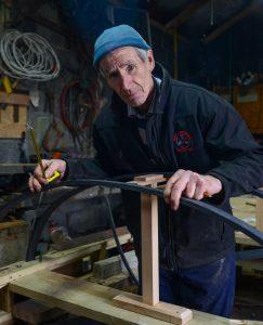 Jack O'Toole, Curach builder and fisherman. Inishturk Island, County Mayo, Ireland