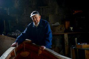 Pakie O'Toole, Curragh Builder and fisherman, Inishturk, County Mayo, Ireland.