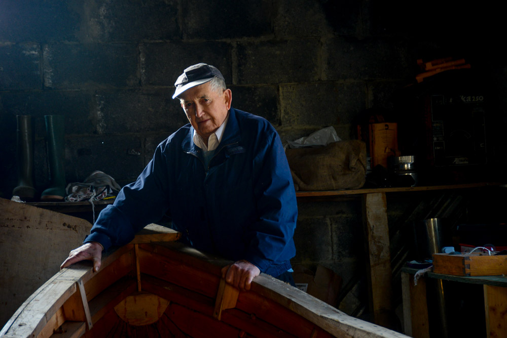 Pakie O'Toole, Curragh Builder and fisherman, Inishturk, County Mayo, Ireland.