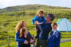 Sean and Margaret O'Grady family. Sean is a farmer, Margaret is a nurse on the island, Clare Island, Co Mayo, Ireland