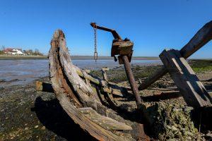 Hook Peninsula, Co Wexford, Ireland. Wreck at Saltmills