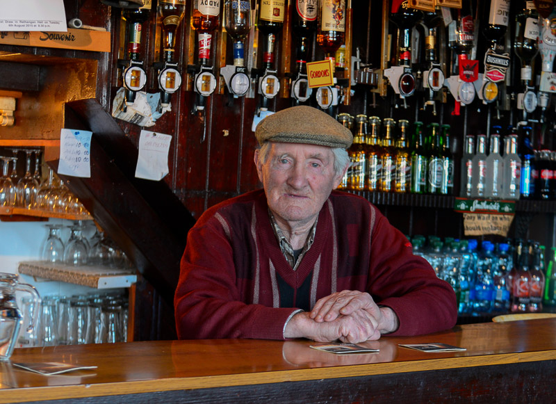 Sinnotts Pub (John Sinnott) Duncormick. Co Wexford, Ireland. Portrait of John Sinnott