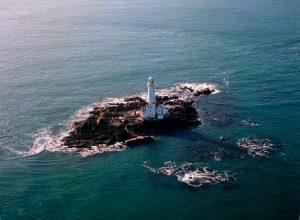 Tuskar Rock Lighthouse (1976), off Rosslare in Co Wexford, Ireland