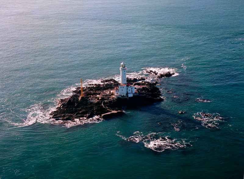 Tuskar Rock Lighthouse (1976), off Rosslare in Co Wexford, Ireland