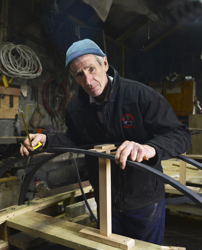 Mike O'Toole, Currach Builder, Inishturk Island, County Mayo, Ireland