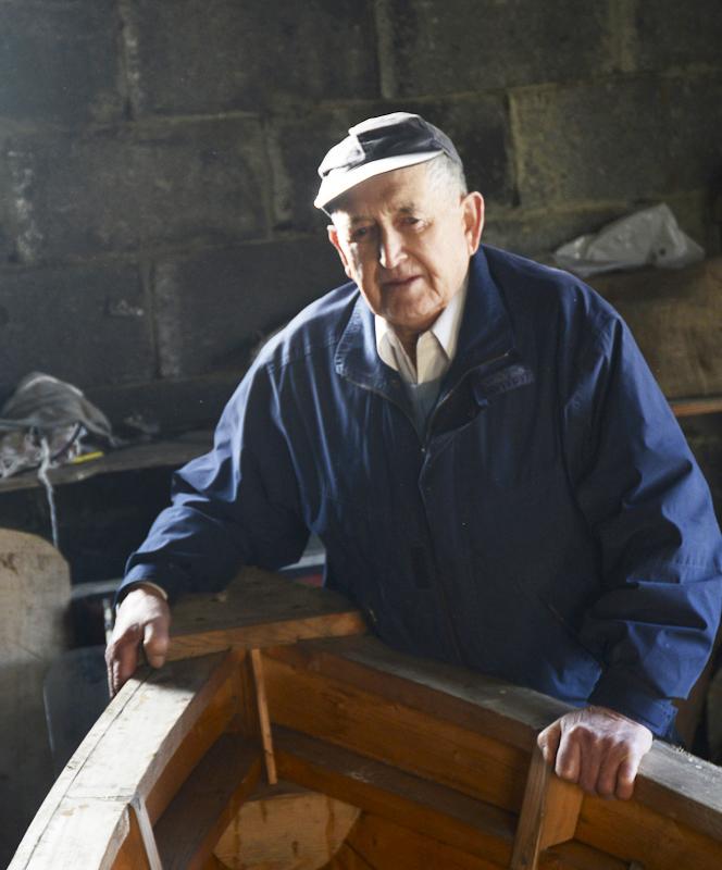 Pakie O'Tool. Curracht Builder, Inishturk Island, County Mayo, Ireland