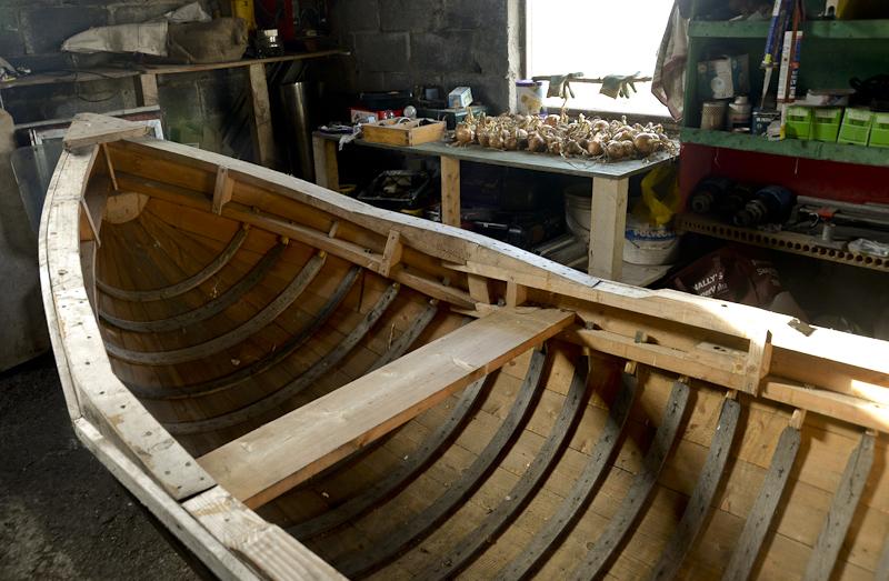 Currach, a traditional work boat, Inishturk Island, County Mayo, Ireland