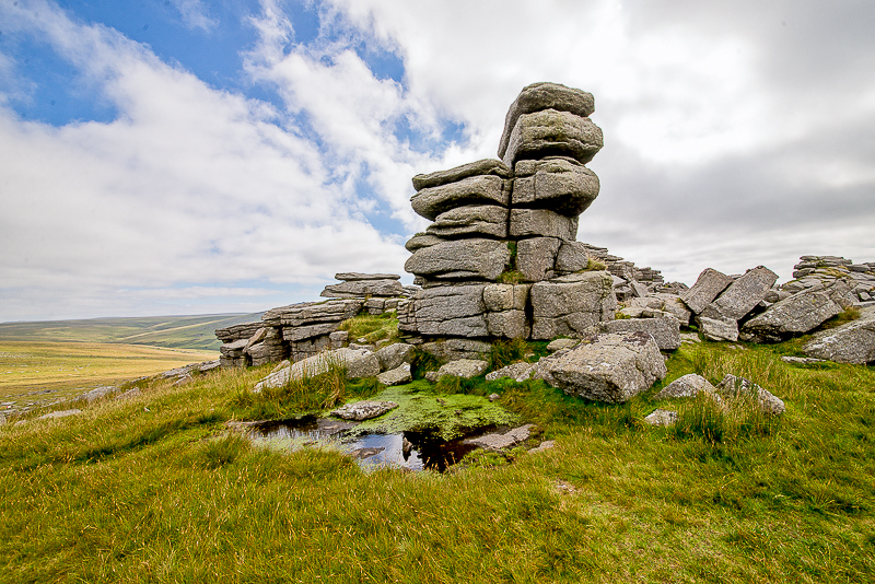 """Middle Staple Tor"", Dartmoor, Devon, England. © John Ironside"