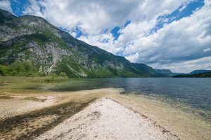 Bohinj Lake, Triglav National Park, Slovenia. &copy John Ironside