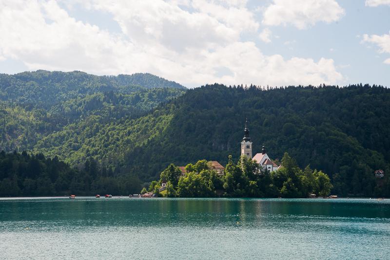 Lake Bled , Triglav National Park, Slovenia. &copy John Ironside