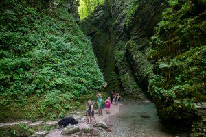 Walk to Great Kozjak Waterfall, Triglav National Park, North West Slovenia, &copy John Ironside