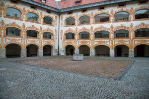 16th Century Gewerkenegg Castle now the Idrija Municipal Museum. Idrigja, Slovenia. &copy John Ironside