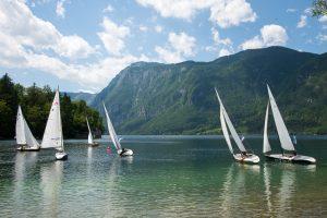 Bled Lake, Triglav National Park, North West Slovenia. &copy John Ironside