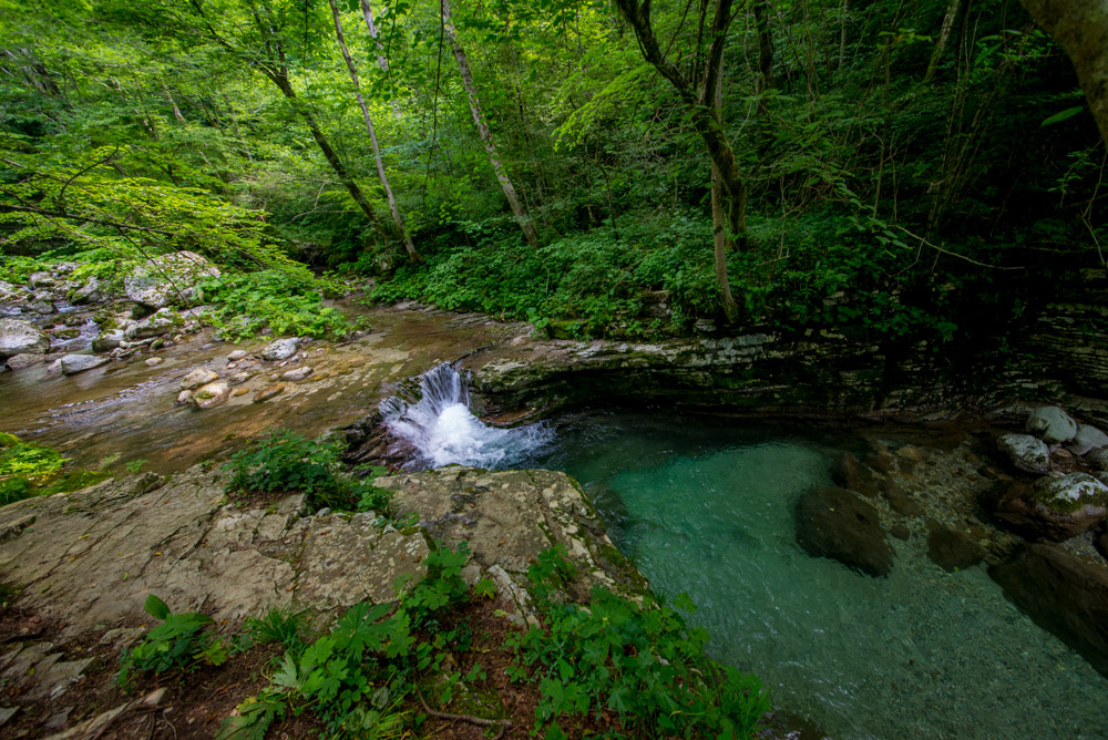 Walk to Great Kozjak Waterfall, Triglav National Park, North West Slovenia. &copy John Ironside