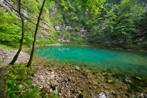 Divje Jezero (Wild Lake) outside Idrija, Central Slovenia