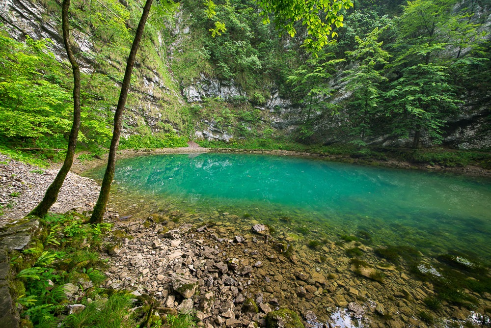 Divje Jezero (Wild Lake) outside Idrija, Central Slovenia