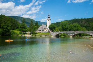 Bohinj Lake, Triglav National Park, North West Slovenia. &copy John Ironside