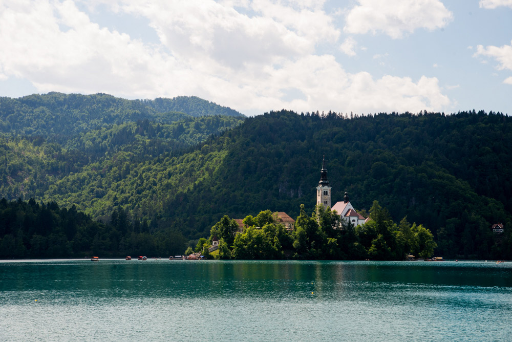 Bled Lake, Triglav National Park, North West Slovenia. &copy John Ironside