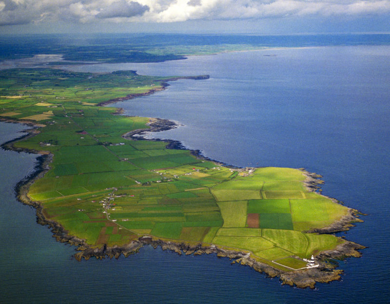 Hook Peninsula and Lighthouse, County Wexford, Ireland. Oldest working lighthouse in the world.