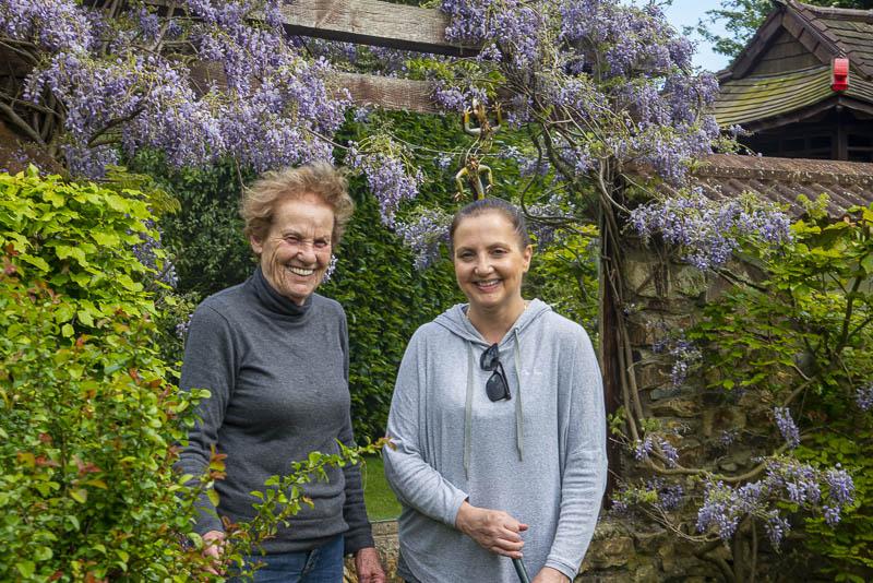 Iris Checkett and her daughter Heather, Glenavon Japanese Garden, Glen Richards, Courtown Harbour, Gorey, Co. Wexford, Ireland.